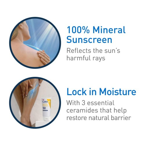 CeraVe Hydrating Sunscreen SPF 50 Body Lotion (Large Size 150ml)