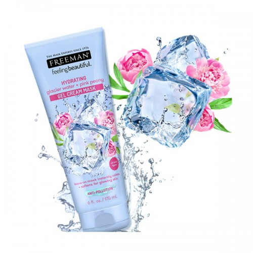Glacier Water + Pink Peony Hydrating Gel Cream Mask (6oz) by FREEMAN BEAUTY