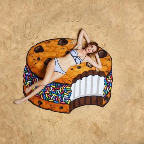 Gigantic Ice Cream Cookie Beach Blanket